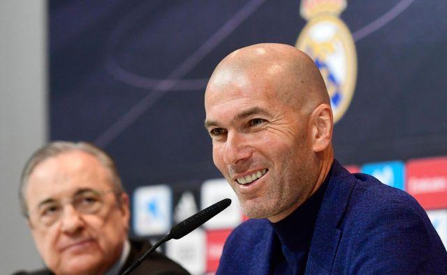 Zinedine Zidane bo skušal galaktike vrniti na stara pota. FOTO: Pierre-Philippe Marcou/AFP