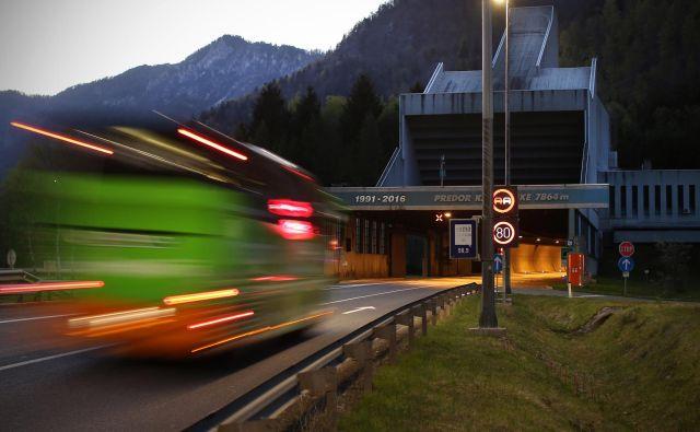 Predor Karavanke med Slovenijo in Avstrijo. FOTO: Jure Eržen/Delo
