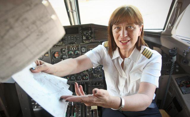 Pilotka Mirjana Frische Ivanović. Foto Jure Eržen/Delo.