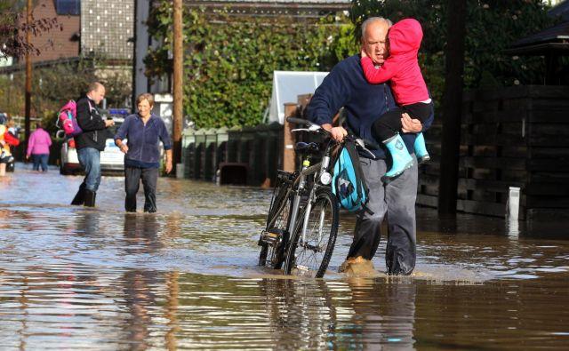 Do konca stoletja bo nevarnost poplav pozimi zrasla za 60 odstotkov. Foto Blaž Samec/Delo