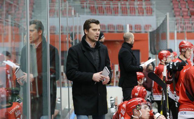 Na sliki Marcel Rodman. Hokej Jesenice in Salzburg. Jesenice, 19. januar 2019 Foto