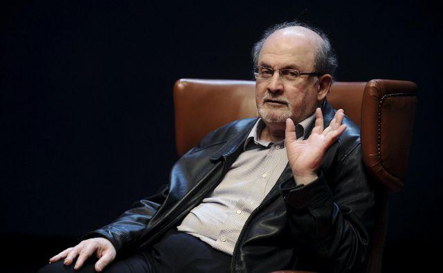 Največja novica sejma je, da bo avgusta izšel novi roman Salmana Rushdieja <em>Kihot</em>, sodobna zgodba se navdihuje pri Cervantesu. Foto Reuters