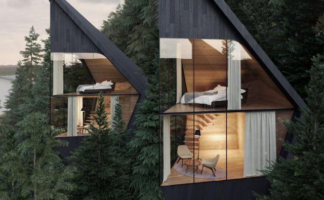Bi si privoščili bivanje v teh dizajnerskih hiškah na drevesih? FOTO: arhiv biro Peter Pichler Architecture