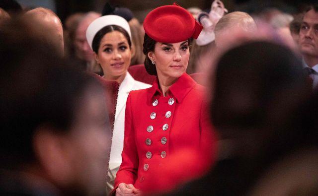 Tudi Meghan Markle in Kate Middleton nista varni pred sovražnim govorom. Foto AFP