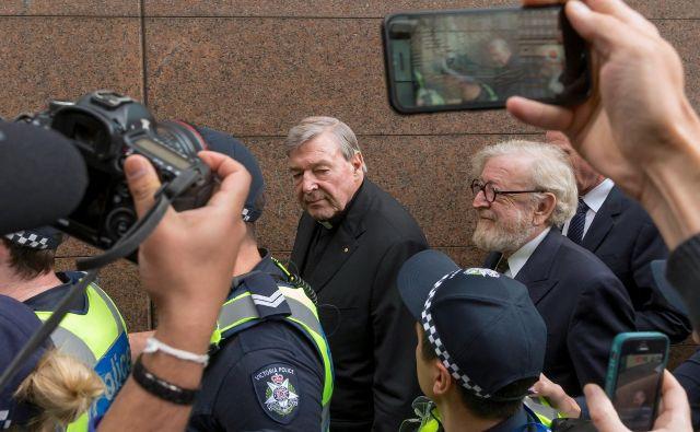 Pell je bil leta 2003 povzdignjen v kardinala, trinajst let kasneje se je moral soočiti z očitki o grehih iz preteklosti. FOTO: Reuters