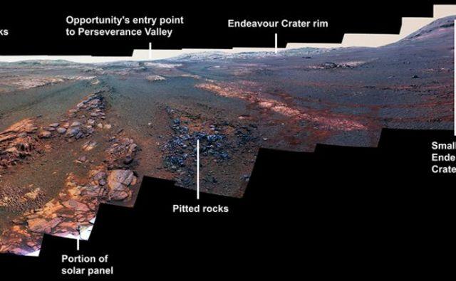 Zadnja fotografija roverja Opportunity. FOTO: NASA/JPL-Caltech/Cornell/ASU
