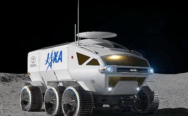 Lunarno vozilo Toyote in Jaxe. FOTO: Jaxa