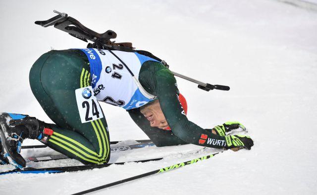 Na svetovnem prvenstvu na Švedskem je bil v posamični tekmi na 20 km najhitrejši Nemec Arnd Peiffer. FOTO: Reuters