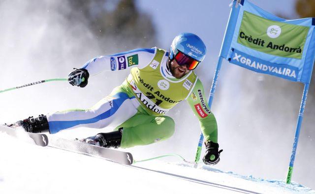 Boštjan Kline si je na zadnjem superveleslalomu sezone z 12. mestom prismučal izid zime. FOTO: Reuters