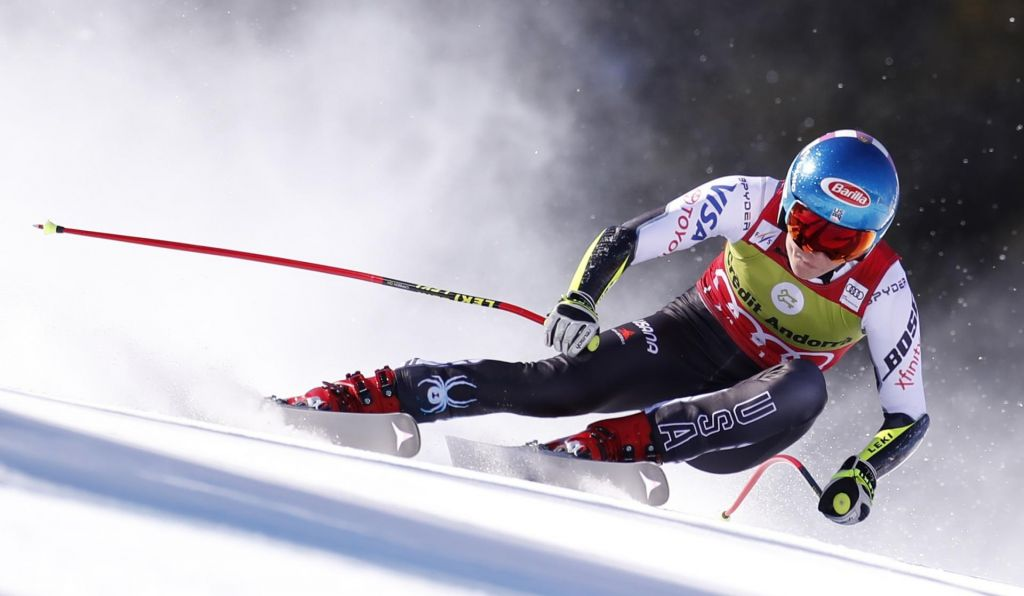FOTO:Mikaela Shiffrin in Dominik Paris z globusoma