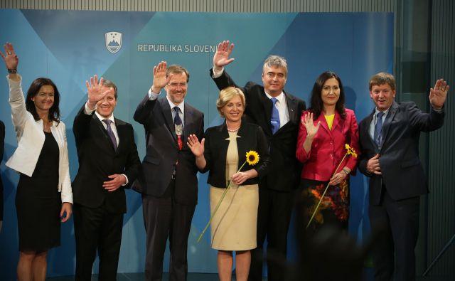 Igor Šoltes (drugi z leve) bo na čelu liste Desus nadomestil Iva Vajgla, ki se je odločil, da se ne bo potegoval za nov mandat v Bruslju. FOTO: Jure Eržen/Delo