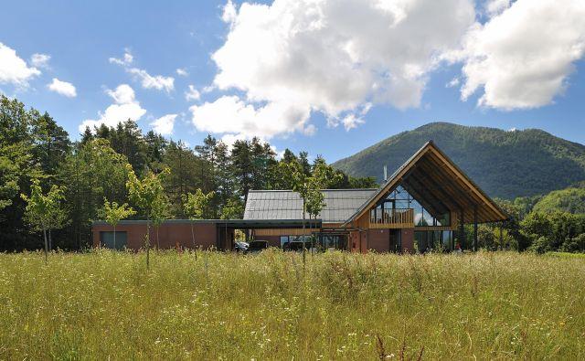 Zemljišče je prostrano in je arhitektom dopuščalo marsikaj. Tako so zasnovali objekt, ki je pravzaprav manjši stanovanjski kompleks. FOTO: Matej Lozar