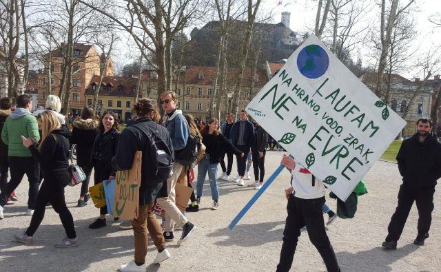 Mladi se zavedajo problema podnebnih sprememb. FOTO: Borut Tavčar