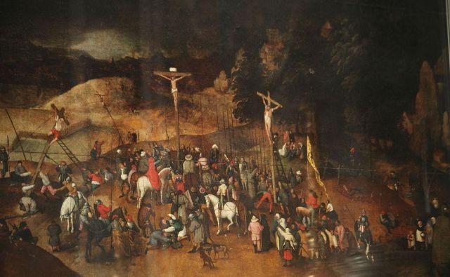 Dragoceno Križanje Pietra Bruegla mlajšega je ostalo na varnem. FOTO: Wikipedija