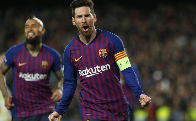 Lionel Messi je bil natančen v obeh finalnih tekmah Barcelone in Manchester Uniteda v letih 2009 in 2011. FOTO: AFP