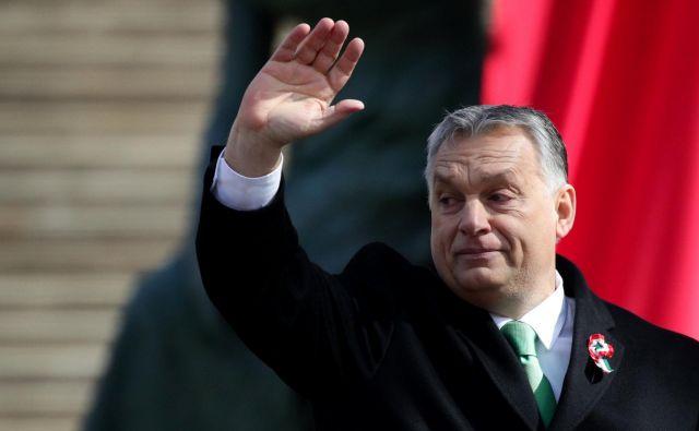Orbán se zaradi podpore iz Nemčije očitno počuti močnega, saj sam postavlja pogoje za obstanek v EPP. Foto: Reuters