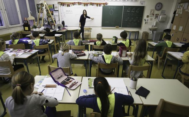 Kandidati/ke smo se udeležile razgovora, nato pa smo morale opraviti še nastop v razredu. FOTO Jože Suhadolnik