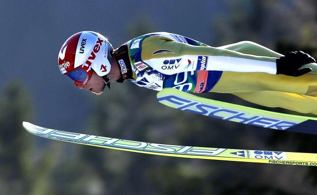 »Leteči Kranjčan« Robert Kranjec v svojem elementu. FOTO: Matej Družnik/Delo