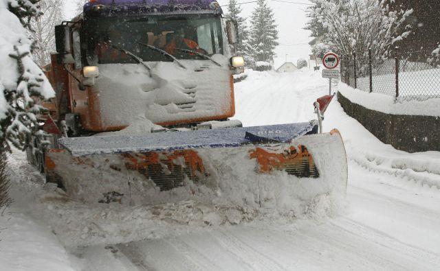 Največ snega bo na Gorenjskem in Notranjskem. FOTO: Mavric Pivk