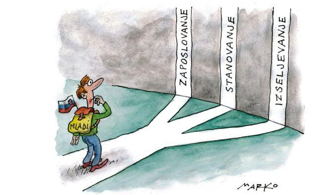 Karikatura: Masrko Kočevar