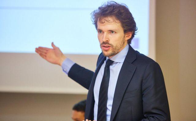 Timotej Homar je tri leta delal v Evropski centralni banki, v enotnem mehanizmu nadzora. Foto Janez Kotar/osebni arhiv