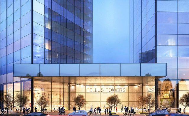 Načrtovani projekt Tellus Towers, Stockholm. Foto Www.ssmliving.se