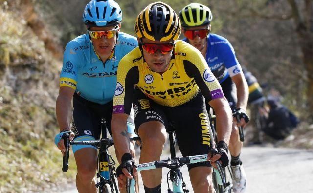 Foto POOL/BETTINI/LaPresse 16/03/2019 Foligno (Italia) Sport Ciclismo Tirreno-Adriatico 2019 - edizione 54 - da Foligno a Fossombrone (221 km) Nella foto:Roglic Photo POOL/BETTINI/LaPresse March 16, 2018 Foligno (Italy) Sport Cycling Tirreno-Adriatico 2019 - edition 54 - Foligno to Fossombrone (139 miglia) In the pic:Roglic Foto Lapresse/fabio Ferrari Lapresse