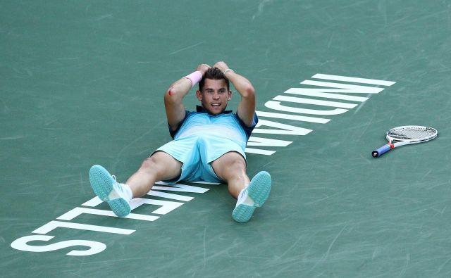 Dominic Thiem, lanski finalist Roland-Garrosa, ni pričakoval, da bo prvo lovoriko iz serije masters osvojil na trdi podlagi. FOTO: AFP