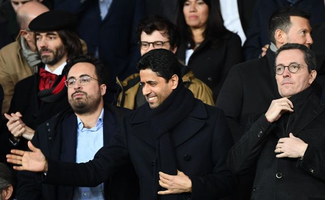 Predsednika Paris St. Germaina šejka Nasserja Al-Khelaifija je po evropskem razočaranju osrečila vsaj zmaga na sodišču. FOTO: AFP