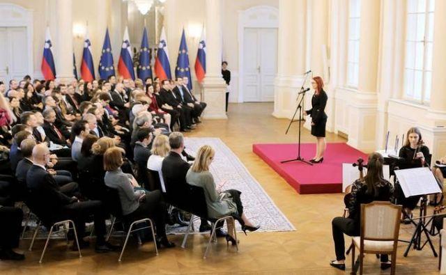 Predsednik republike Borut Pahor je gostil sprejem ob desetletnici podelitve nagrade mentor leta, namenjene najboljsim mentorjem doktorskih studentov. FOTO: Daniel Novakovic/sta