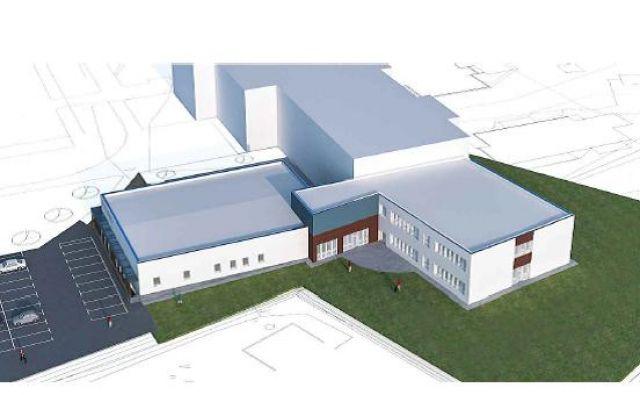 Računalniška risba bodočega prizidka in športne dvorane v Grosupljem. Arhiv: Občina Grosuplje