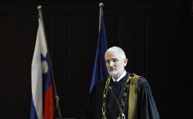 Damijan Florjančič, predsednik vrhovnega sodišča, je ob otvoritvi sodnega leta izrazil pričakovanje, da se bo počasi dvignilo tudi zaupanje javnosti v sodstvo. Foto Leon Vidic