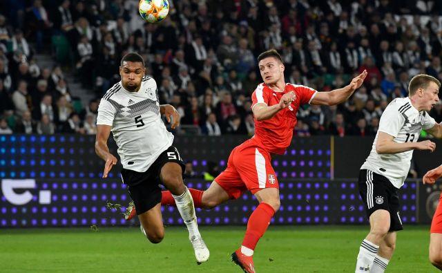 Luka Jović je Srbijo popeljal v vodstvo proti Nemčiji. FOTO: AFP