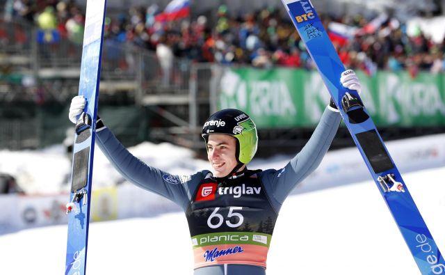 Timi Zajc si je uresničil željo in z 239 metri dosegel nov osebni rekord. FOTO: Matej Družnik/Delo