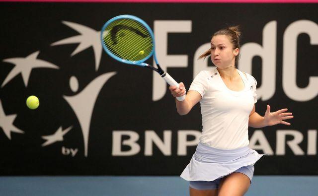 Dalila Jakupović se po težkem žrebu in dvoboju z Venus poslavlja od Miamija. FOTO: Reuters