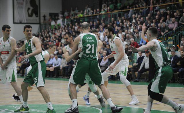Košarkarji Krke in Petrola Olimpije so se povsem osredotočili na slovensko DP. Foto ABA