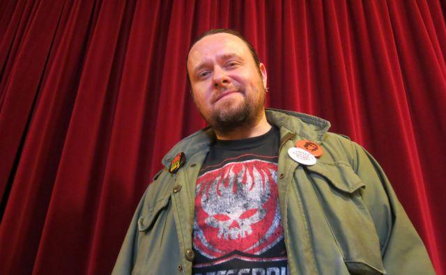 Marko Vidojković je vztrajen kulturni in družbeni aktivist.<br /> Foto Zdenko Matoz
