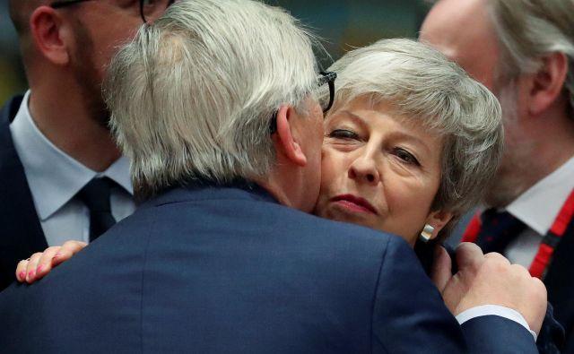 Voditelji EU želijo pomagati premierki Mayevi, a njihova prizadevanja se doslej niso obnesla. FOTO: Yves Herman/Reuters