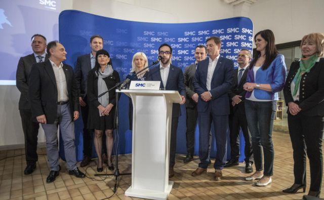 Pri SMC so predstavili svoje kandidate. FOTO: Voran Vogel