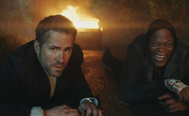 V filmu The Hitman's Wife's Bodyguard se bosta v glavnih vlogah vrnila Ryan Reynolds in Samuel L. Jackson. FOTO: promocijsko gradivo
