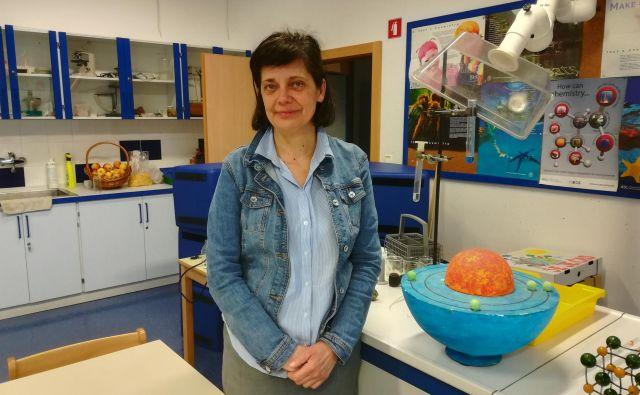Renata Filipič bi rada aktivne metode učenja delila tudi z drugimi učitelji. Foto Mojca Boštele