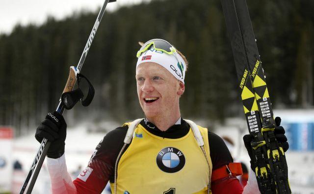 Johannes Thingnes Boe je zmagovalec zasledovalne preizkušnje, Pokljuka 09. december 2018 [biatlon,šport,Pokljuka] Foto Matej Družnik