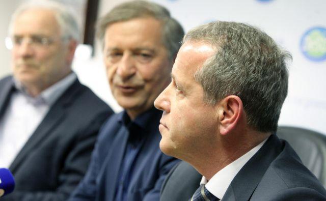 Kandidaturo Igorja Šoltesa je podprl tudi Ivo Vajgl, ki je bil leza 2014 izvoljen na listi Desusa, a se zdaj ni odločil za vnovično kandidaturo. FOTO: Mavric Pivk/Delo