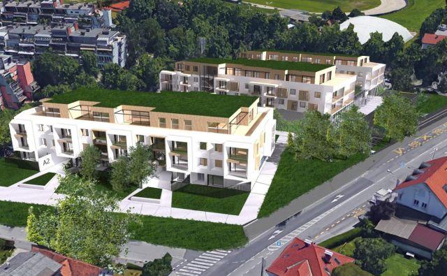 Za stanovanja v novi soseski je veliko povpraševanje že pred gradnjo. FOTO: Stoja Trade
