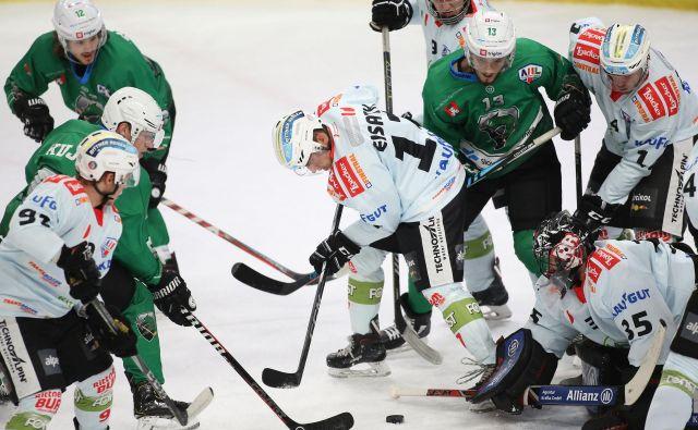 Olimpija in Ritten sta se zapletla v trd boj za polfinale. FOTO: Tomi Lombar