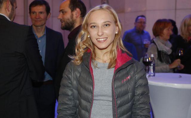 Janja Garnbret je bila brezhibna v polfinalu in finalu. FOTO: Leon Vidic/Delo