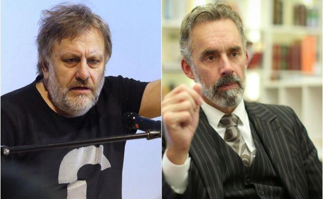 Debatno srečanje oziroma spopad med Slavojem Žižkom inJordanom Petersonom bo komercialni dogodek.FOTO: Delo