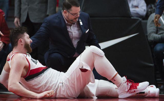 Poškodba Nurkića je velika črna pika na zelo uspešni sezoni Portlanda. FOTO: Reuters
