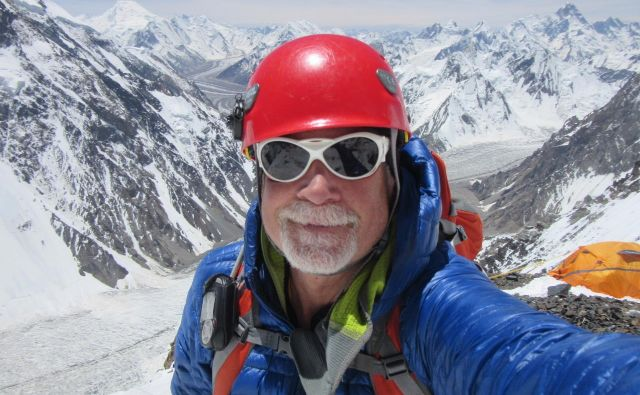 Alan Arnette v kampu 1 na K2 leta 2014. FOTO: Osebni arhiv
