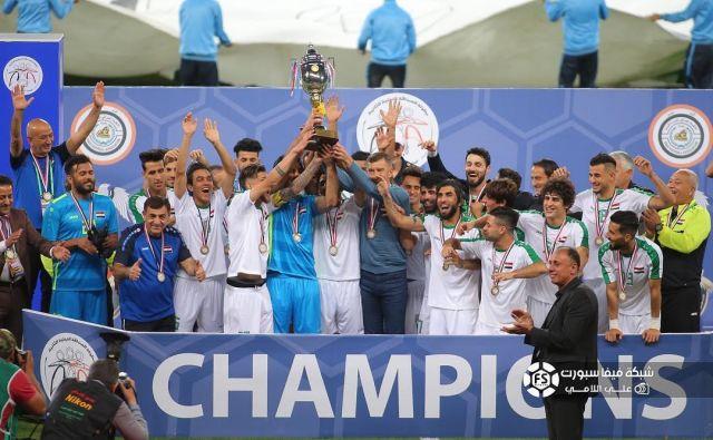 Srečko Katanec in njegovi izbranci so se v Basri veselili prve velike zmage. FOTO: Iraq Soccer